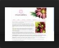 Web design and web development thumbnail of Marcelles Flowers Web Site